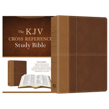 kjv cross reference study bible in brown