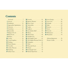 Table of contents chicken book