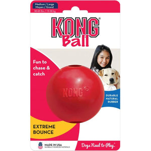 Red rubber ball for dogs
