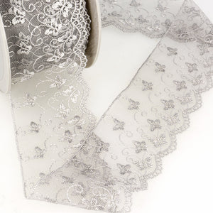 Gray butterfly lace
