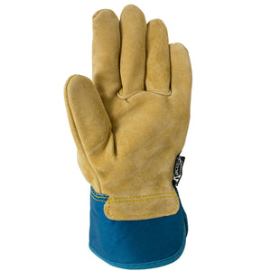 Palm of women's leather work glove