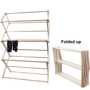 Drying rack- folded up.