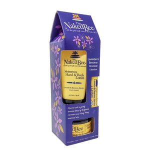 The Naked Bee Lavender and Beeswax lotion set