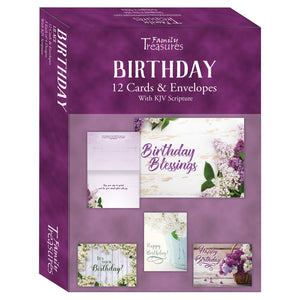 Lilacs birthday cards boxed