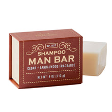 Cedar and sandalwood shampoo man bar