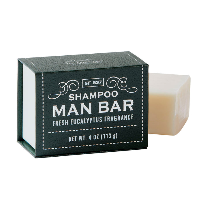 Fresh eucalyptus Man Bar shampoo soap