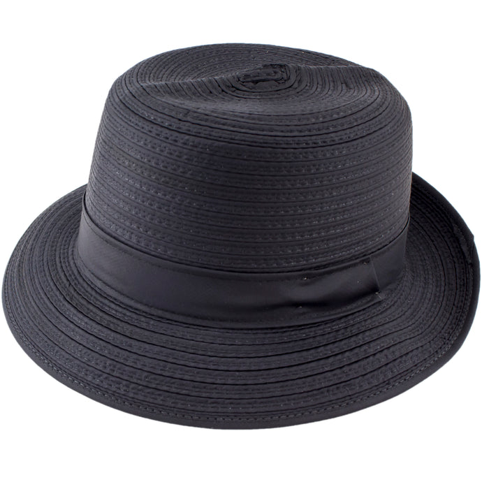 Black nylon hat