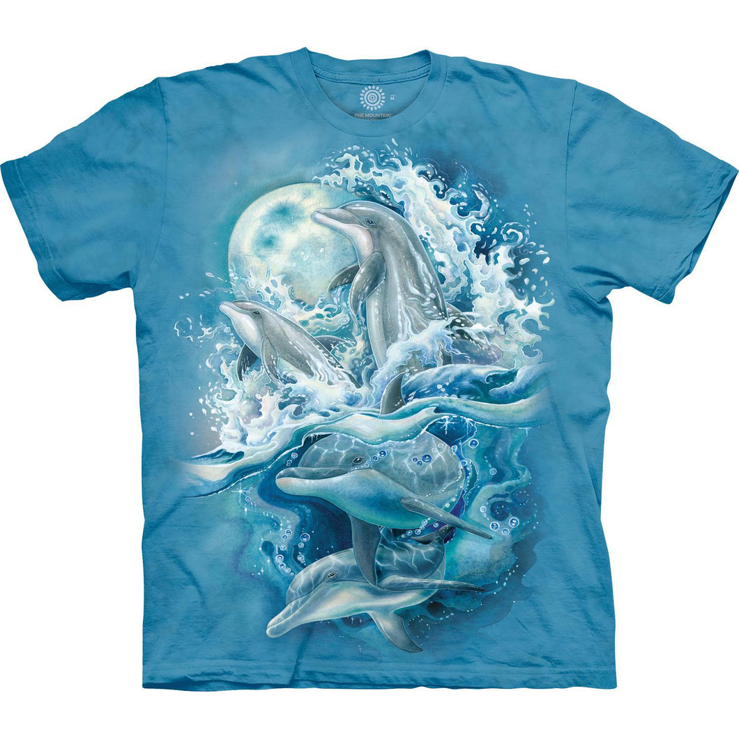 Blue t-shirt with dolphins