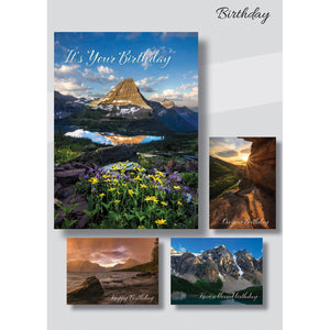 Landscape birthday cards box