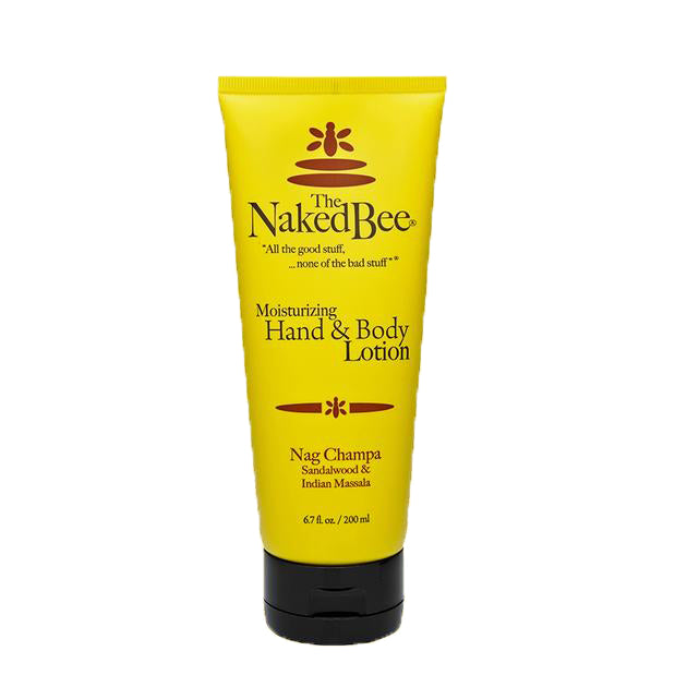 the naked bee nag champa hand & body lotion  2.25 fl oz