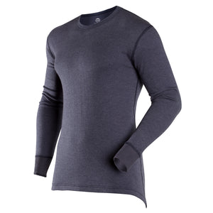 Navy thermal long-sleeve crew neck Coldpruf