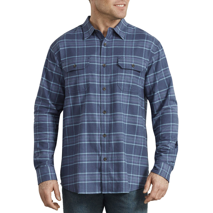 Dickies Navy plaid shirt