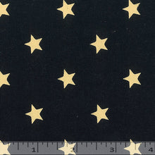 Navy blue fabric with stars