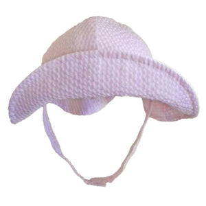 White and pink baby hat