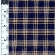 Plaid navy fabric