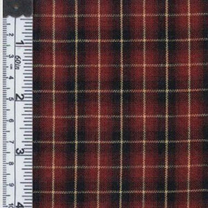 Plaid wine fabric