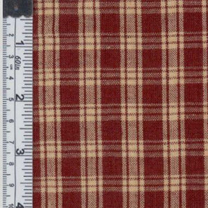Plaid natural fabric