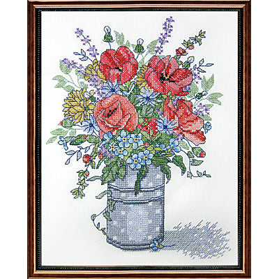 Poppies cross stitch