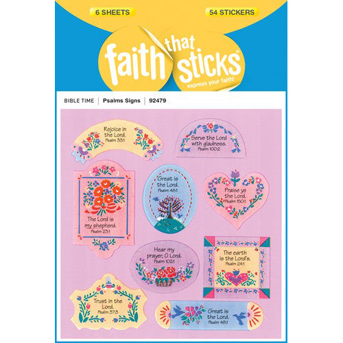 Psalms stickers