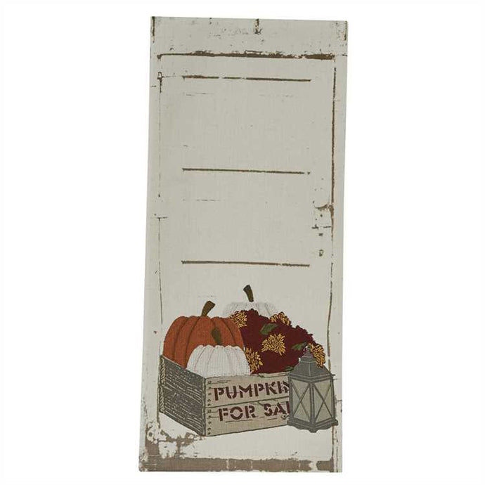 crates and pumpkins dish towel park designs front