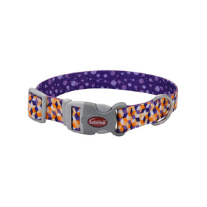 Purple and orange dog collar