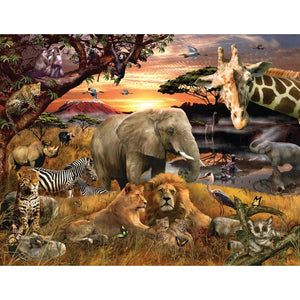 Wild Savanna piece puzzle