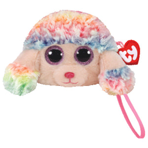 Rainbow poodle purse