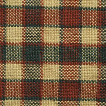 Red and green check fabric