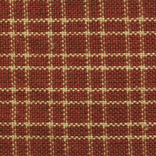 Red and brown plaid fabric