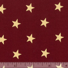 Red fabric with gold stars