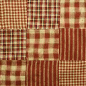 Red patchwork fabric