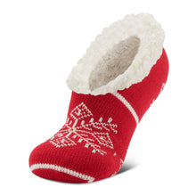 Red snowflake slipper