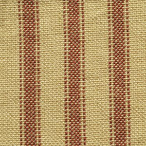 Red ticking fabric