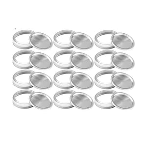 12 regular canning lids and rings