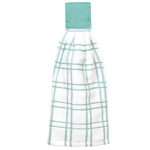 multi check tie towel dew
