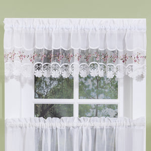 Rose lacy valance