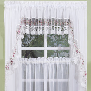 Vintage swag curtain