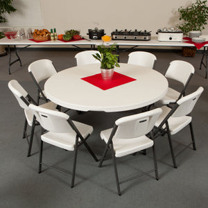 Round table in use