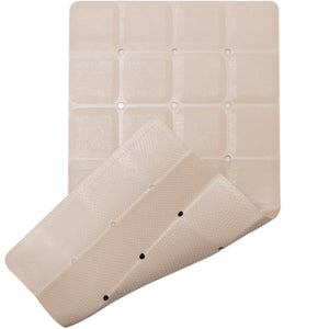 Rubber bath mat with honeycomb- texture