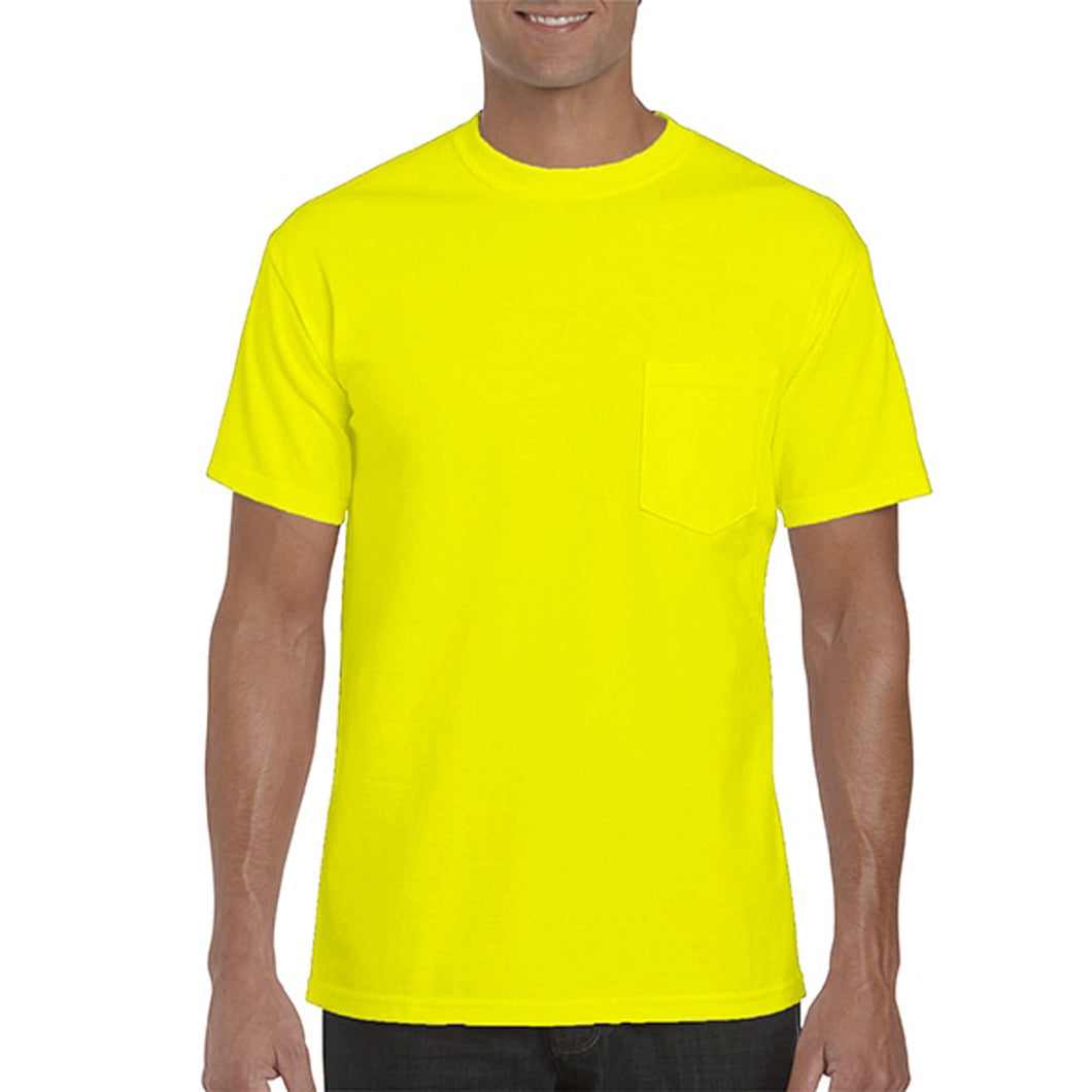 Safety green pocket tee