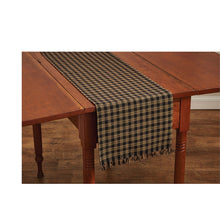 Short black table runner