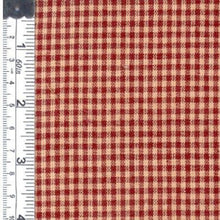 Small check wine natural fabric