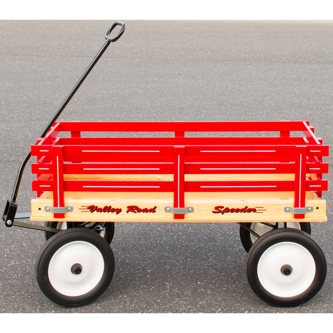 Small red Valley Road Speeder wagon