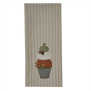 Park designs stacked pumpkins dishtowel