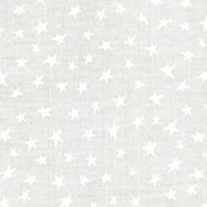 White muslin fabric with stars