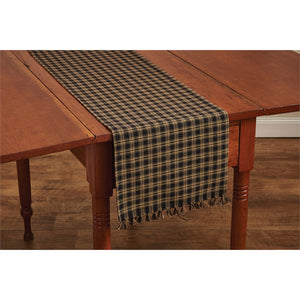 Long black table runner