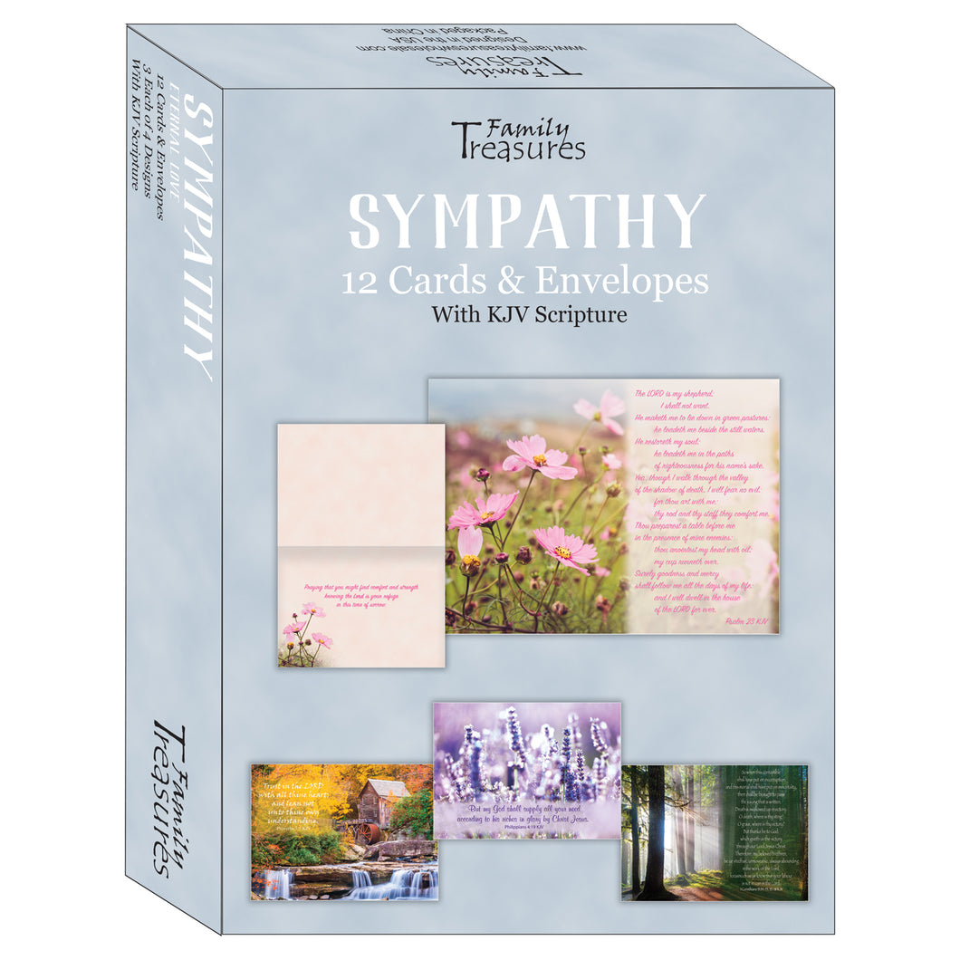 Boxed sympathy cards