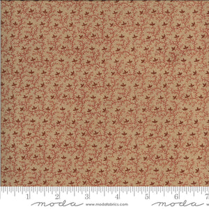 Tan brick cotton fabric