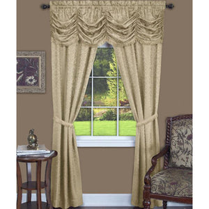 Tan window curtains