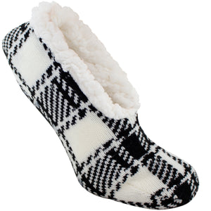 Tartan plaid slipper